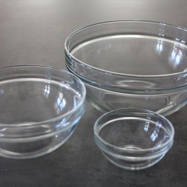 Glasskåle, 24 cm.-37