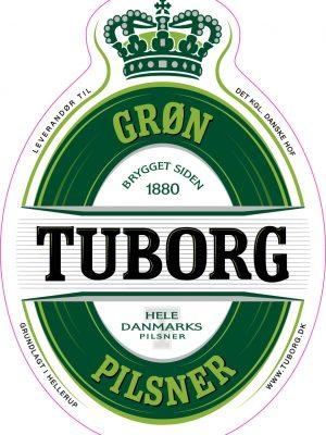 Grøn Tuborg Pilsner fustage 25 liter-0