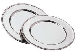 Sølv dækketallerken-0