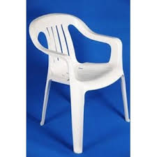 Hvid plastic havestol, komfort-0
