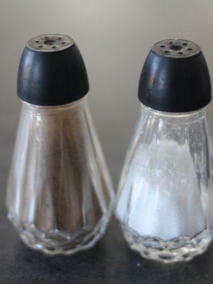Salt og pebersæt, glas-0
